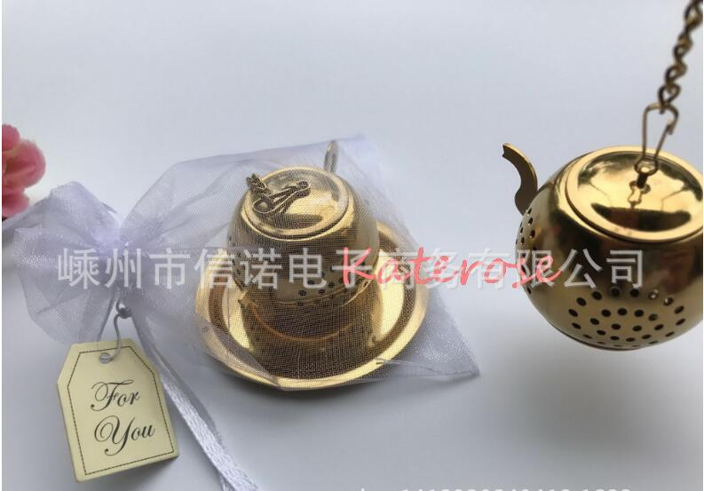 Stainless Steel Wedding Favor Gift and Giveaways for Guest Tea for Two Teapot Tea Infuser Strainer Favours Party Souvenir