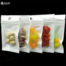 3000pcs/lot wholesale 16*24cm White / Clear Self Seal Zipper Plastic Retail Packaging Poly Bag, Ziplock Bag Package