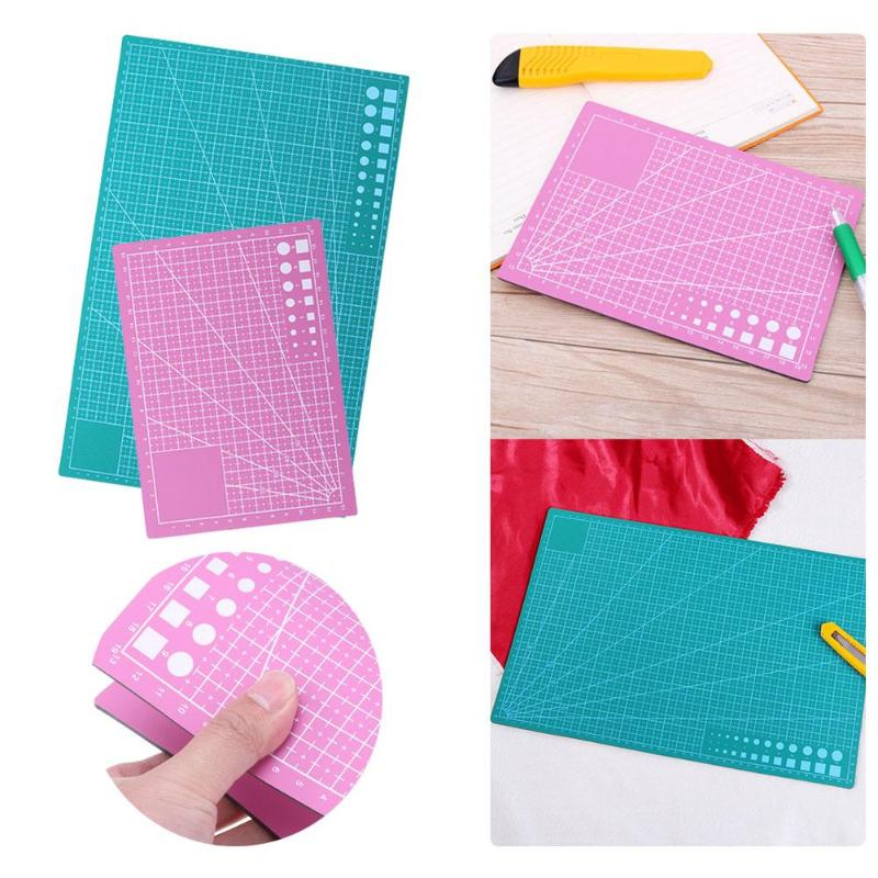 A5 PVC Cutting Mat DIY Patchwork Mat Leather Cutting Mat Pad Manual DIY Tool Cutting Board Double-sided Self-healing