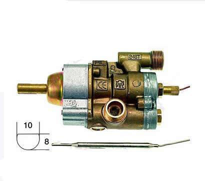 ELECTROLUX ZANUSSI PEL 24ST 058369 robinet à gaz THERMOSTAT vanne 120-320C 12mm IN/OUT