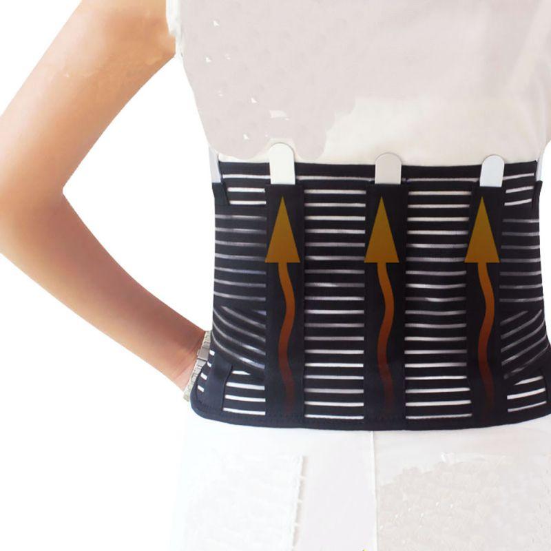 Prix pour Acier Musculation Soutien Lombaire Haute Élastique Respirant Maille Soins de Santé Avec Acier Taille Back Support Brace Ceintures