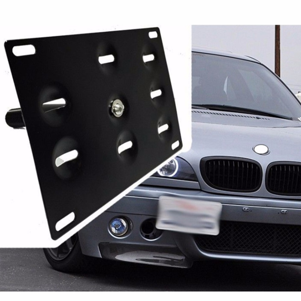 все цены на New Arrive Front Bumper Tow Hook License Plate Mounting Bracket For BMW F30 F31 F25 X3 Wagon 3 Series F10 F11 F07 5 Series онлайн