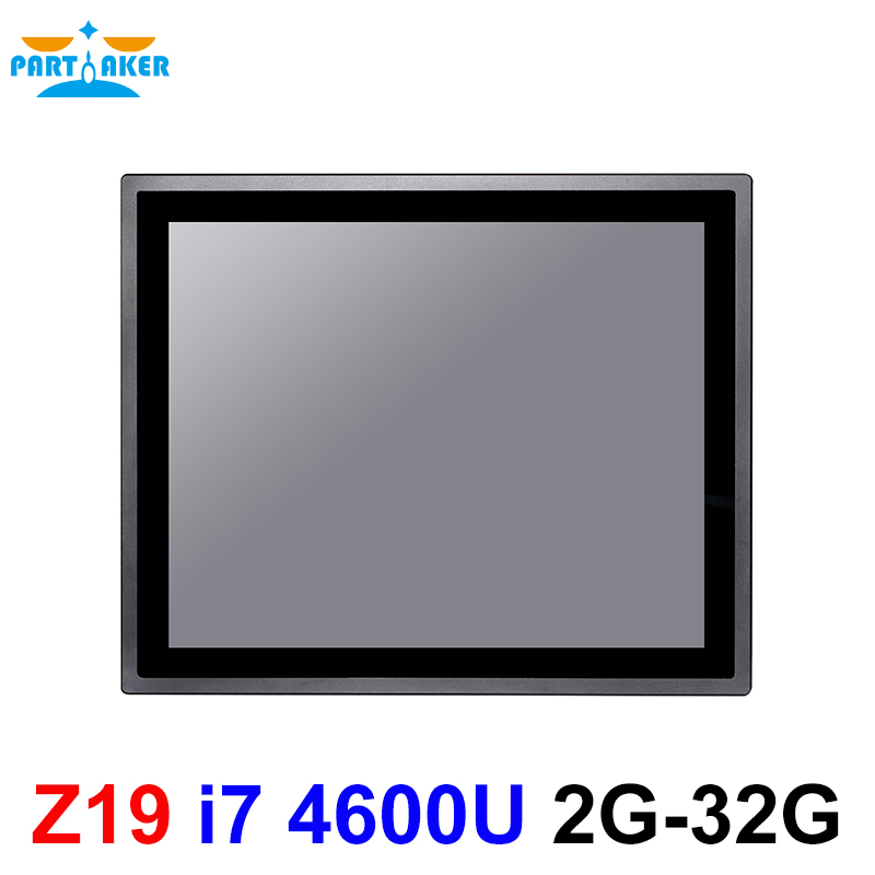 17 Inch IP65 Industrial Touch Panel PC Intel Core I7 4600U All In One Computer With Windows And Linux 10 Points Capacitive TS