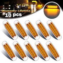10x Ambra Luce di Indicatore Laterale Liquidazione 12-LED Lampade A Luce Per Freightliner Lato 12 ~ 24 V 6000 K, a sinistra, a Destra Lampade Per Auto Per Il Camion
