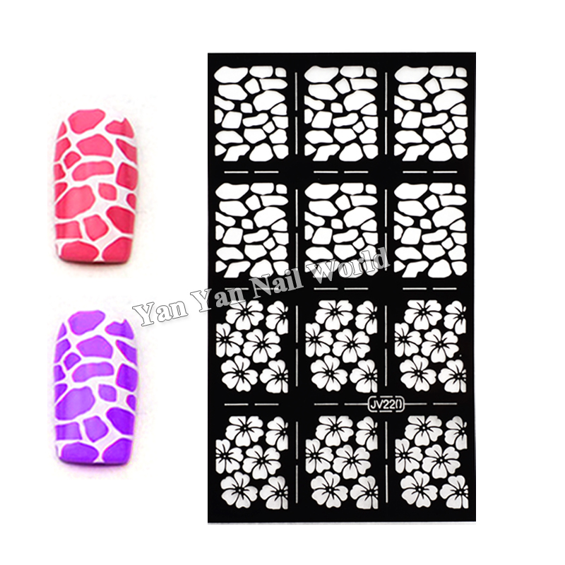 Unique Nail Stencil Stickers Collection - Nail Art Ideas - morihati.com