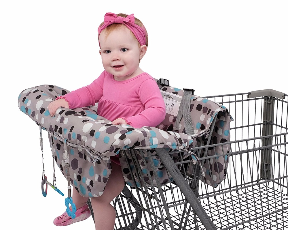 Red Blue Dot Grocery Shopping Cart Baby Seat Cover