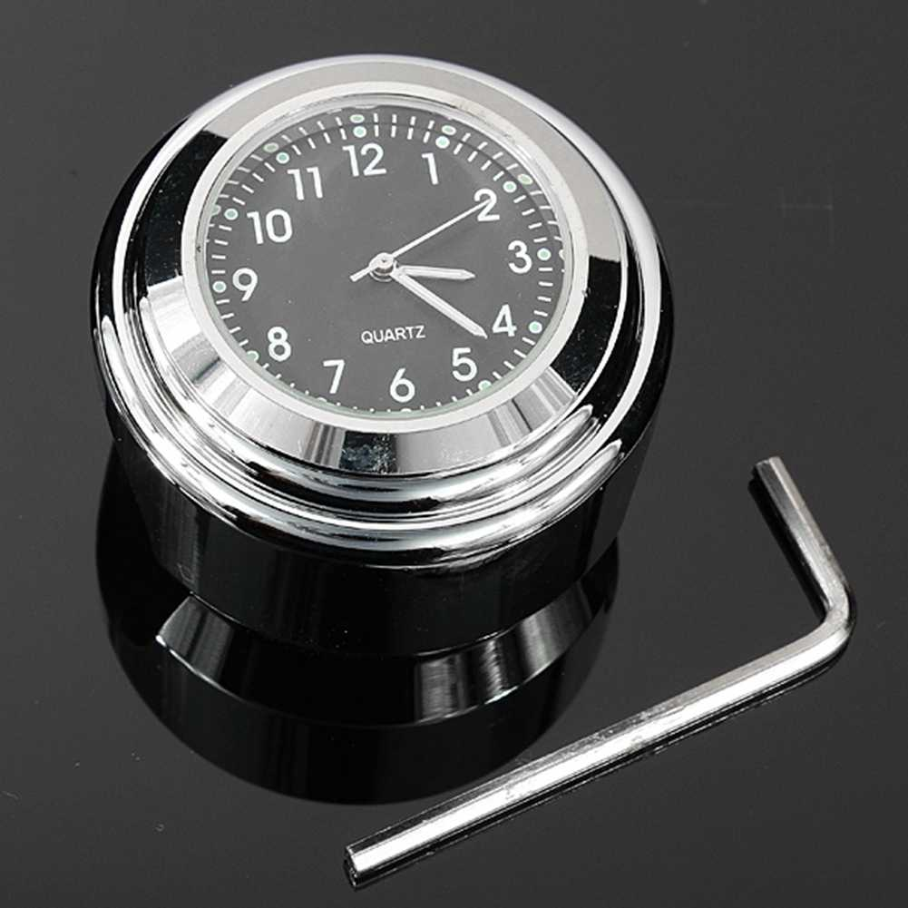 New Arrival High quality Waterproof 7/8 for Halley Motorcycle Bike Handle bar Mount Clock quartz Watch silver color