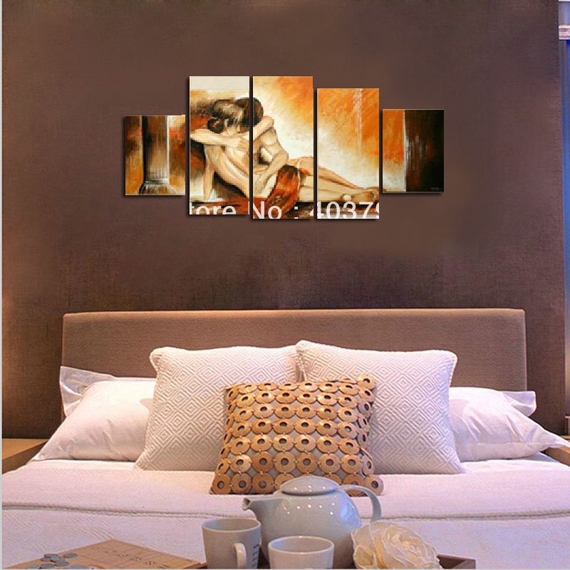 MODERN ABSTRACT HUGE WALL ART OIL PAINTING ON CANVAS lover pictures painting art home decor in Painting Calligraphy from Home Garden