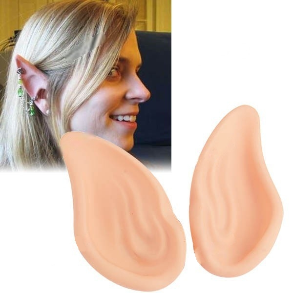 Cute Pair of Elf Ears Personalized Adornments for Costume Ball Cosplay Halloween Party - Fleshcolor  sc 1 st  AliExpress.com & Cute Pair of Elf Ears Personalized Adornments for Costume Ball ...