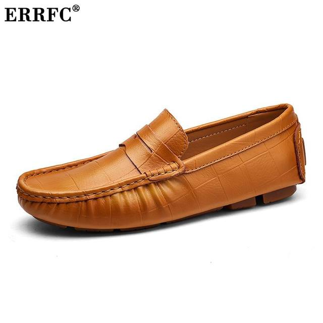10a5395f0f ERRFC New Arrival Men White Loafer Shoes Fashion Slip On Lazy Boat Shoes  For Men Driver Shoes Trending Leisure Shoes Blue 38-47