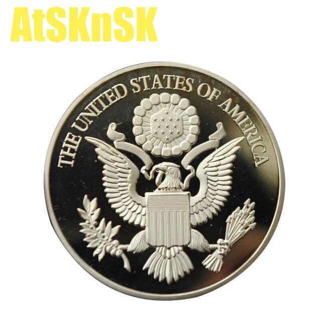 Atsknsk 5pcs Commemorative Freemasonry Coin Masonic Symbols Series