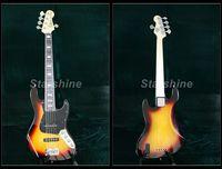 Starshine 5Strings Electric Bass Guitar YL5 JB10 JB Standard Style Neck Binding Sunburst Color Strings Thru Body