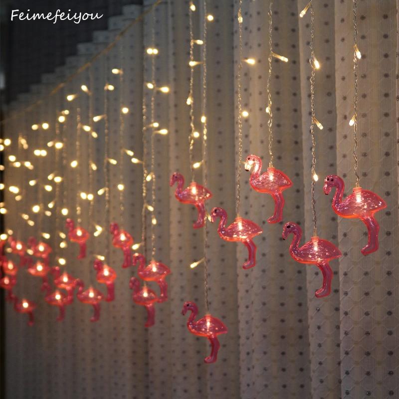 Feimefeiyou 5m 216 leds Bird Fairy Lights LED String Lights Indoor Living Room Christmas Xmas Party Decoration стоимость