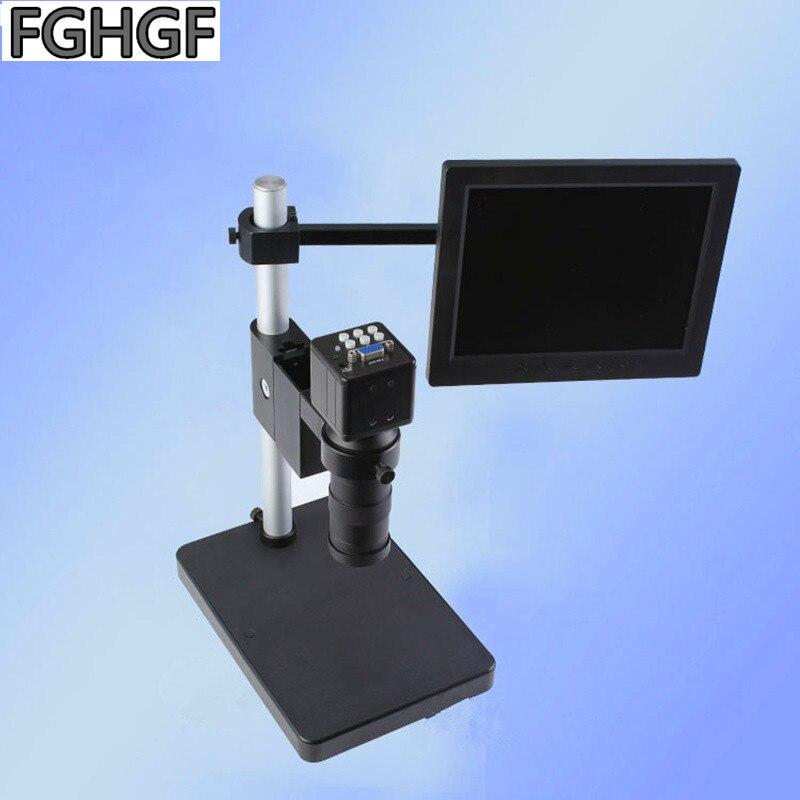 FGHGF SP-200 Microscope vidéo 2 millions de Pixels VGA caméra téléphone réparation 8 pouces affichage 0.12-2x Zoom lentille Microscope électronique