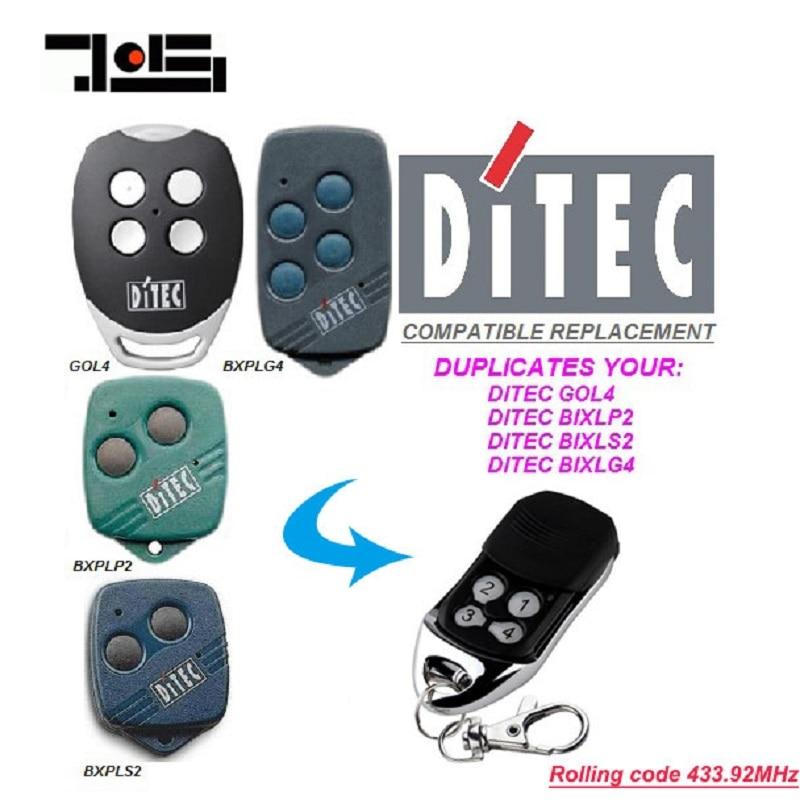 5 pcs DITEC GOL4, BIXLP2, BIXLS2, BIXLG4 Rolling code 433 mhz vervanging afstandsbediening gratis verzending-in Deur Afstandsbediening van Veiligheid en bescherming op AliExpress - 11.11_Dubbel 11Vrijgezellendag 1