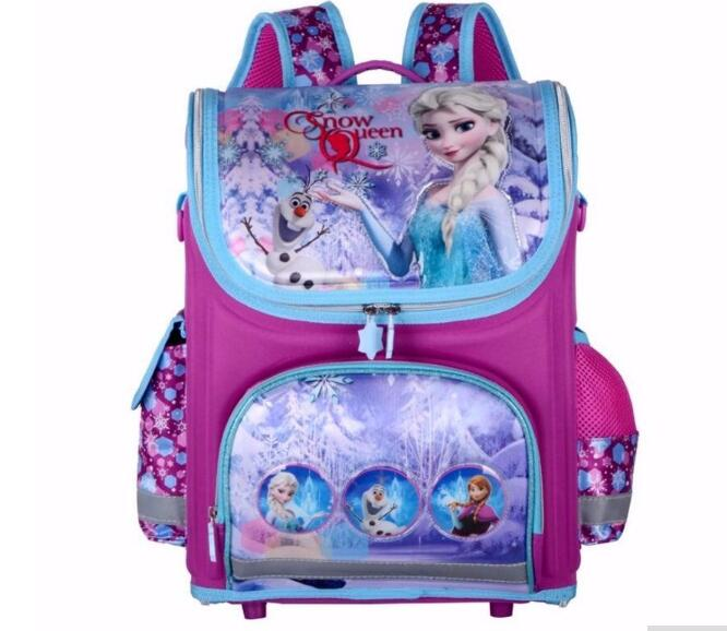 Girls Butterfly School Bags Nylon Orthopedic Princess Elsa font b Backpacks b font for Primary Students