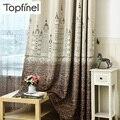 Topfinel занавески на окна с мультяшным замком для детей  детская комната  девочки  мальчики  детская спальня  градиентный дизайн  затемняющие з...