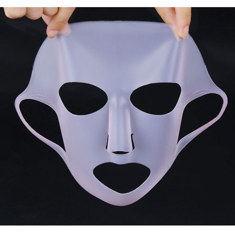 1pc Silicone Facial Mask Cover Ear-hook Face Mask Cover Prevent Essence Evaporation Speed Up Absorption Moisturizing Beauty Tool