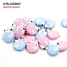 5Pcs Perle Silicone Beads Hedgehog Teether DIY Baby Teething Toys Porcupine Nurs
