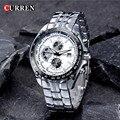 2016 Nueva Moda CURREN Relojes Hombres Marca de Lujo Reloj Militar Hombres Llenos de Acero Relojes de Pulsera Del Deporte impermeable relogio masculino