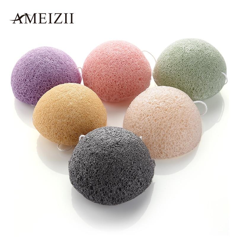 AMEIZII 1 Pcs Konjac Face Robot Discharge Makeup Foundation Sponge Cosmetic Puff  Powder Puff Beauty Makup Tools