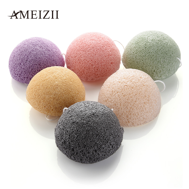 AMEIZII 1 Pcs Konjac Face Robot Discharge Makeup Foundation Sponge Cosmetic Puff  Powder Puff Beauty Makup Tools