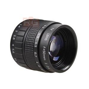 Image 3 - Fujian 50mm F1.4 CCTV TV Movie lens+C NEX Mount for SONY E Mount NEX3 NEX6 NEX7 A6500 A6300 A6000 A5000