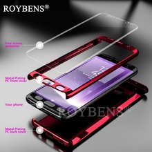 Phones Telecommunications - Mobile Phone Accessories  - Roybens For Samsung Galaxy S7 Edge Case Mirror 360 Degree Ultra Slim Full Body Case For Samsung S7 Bling Glossy Cover Soft Film