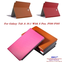 ZP For Samsung GALAXY Tab A A6 10 1 P580 P585 Tablet Case Leather Flip Book