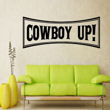 Hot Sale Square Shape Cowboy Up Wall Sticker Home Decor Living Room Wall Decals Children Boys Room Decoration hot sale welcome sweet home wall sticker for living room