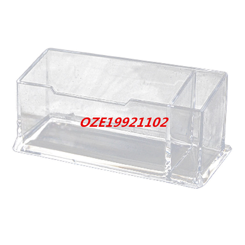 1PCS Office Desk Clear Hard Plastic Business Card Holder ...