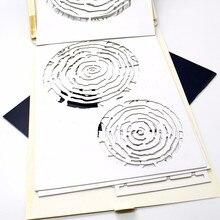 1ks zajímavé šablony pro nástěnné malby Stromový nástroj Víceúčelové dekorativní pro malířské potřeby Dekorace pokojů WH14