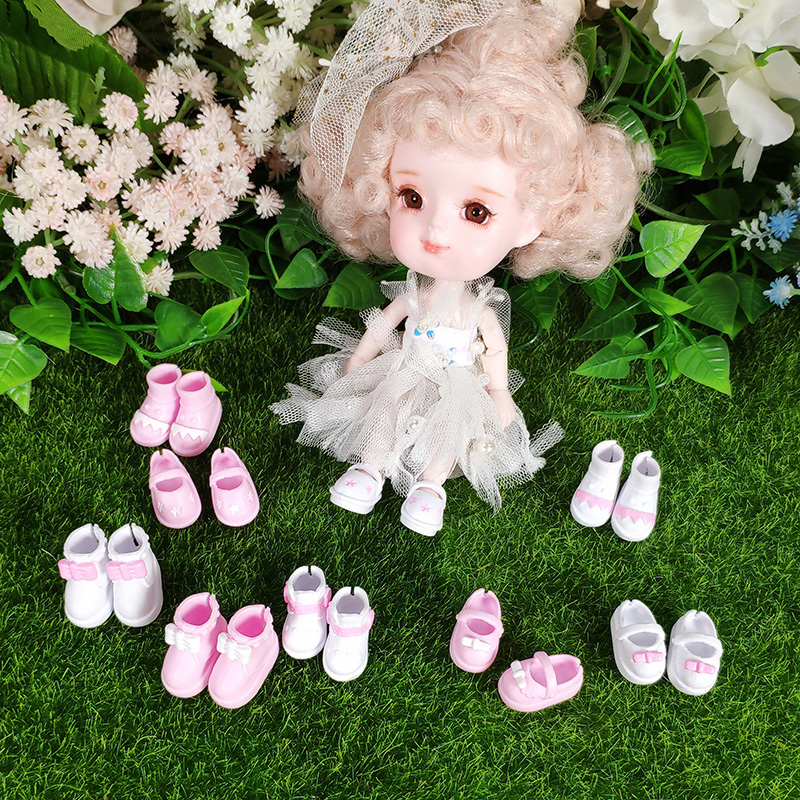 Shoes For DoDo Doll Rubber  With Bow Suit For 1/8 Middie Blyth Doll,ob11