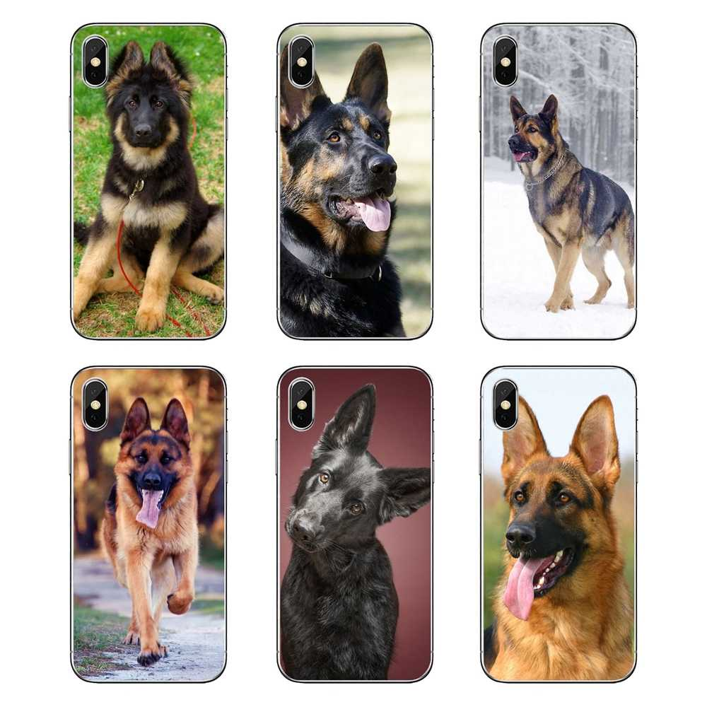 Duitse Herders Hond Puppy Art TPU Transparant Gevallen Covers Voor Huawei Honor 8 8C 8X9 10 7A 7C mate 10 20 Lite Pro P Smart Plus