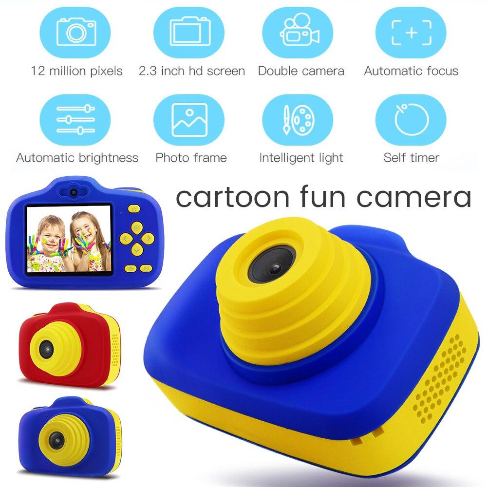 X-903 enfant en bas âge Mini caméra numérique enfants Double lentille HD Photo vidéo garçon et fille bande dessinée caméra enfants jouets cadeau éducatif - 3