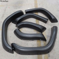 Wotefusi 6 Piece Black Wide Extended Fender Flares Set For Jeep Cherokee 1984 2001 85 86 87 88 89 90 91 92 93 [QPA411]