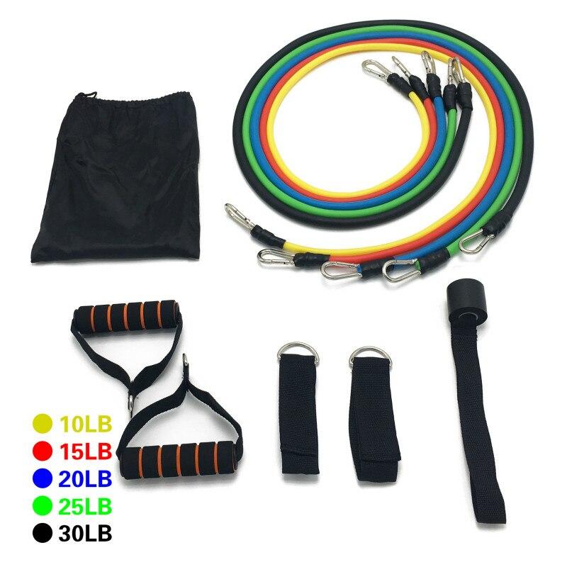 100 livres entraînement Fitness exercice équipements multifonction Zinc or crochet tirer corde Yoga Tension résistance bandes chaud nouveau