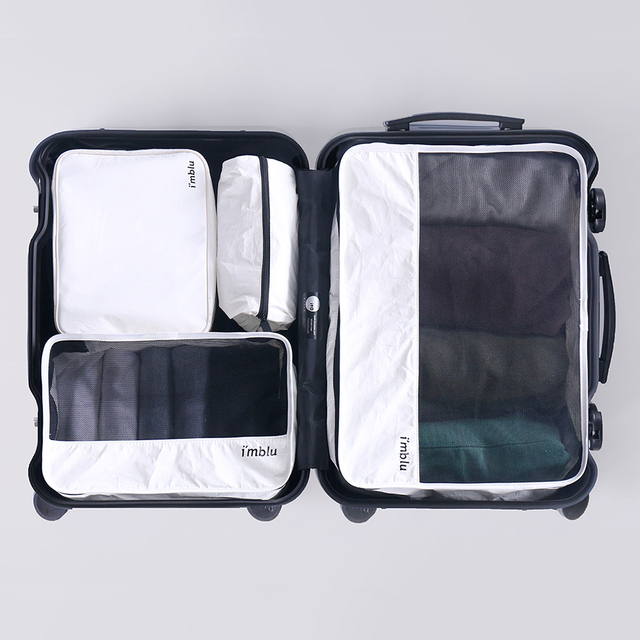 DuPont Paper Travel Luggage Organizer-High Quality Carryon Lightweight Packing Cubes Storage Bags