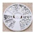 2mm Prata Roda Transparente Rodada Glitter Nail Art Decoração Pedrinhas Para Unhas Ferramentas Do Prego de Prata Strass Decoração