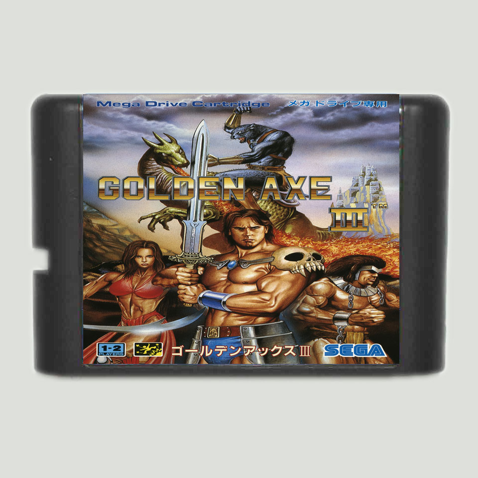 Golden Axe III 16 Bit MD Game Card For Sega Mega Drive For ...