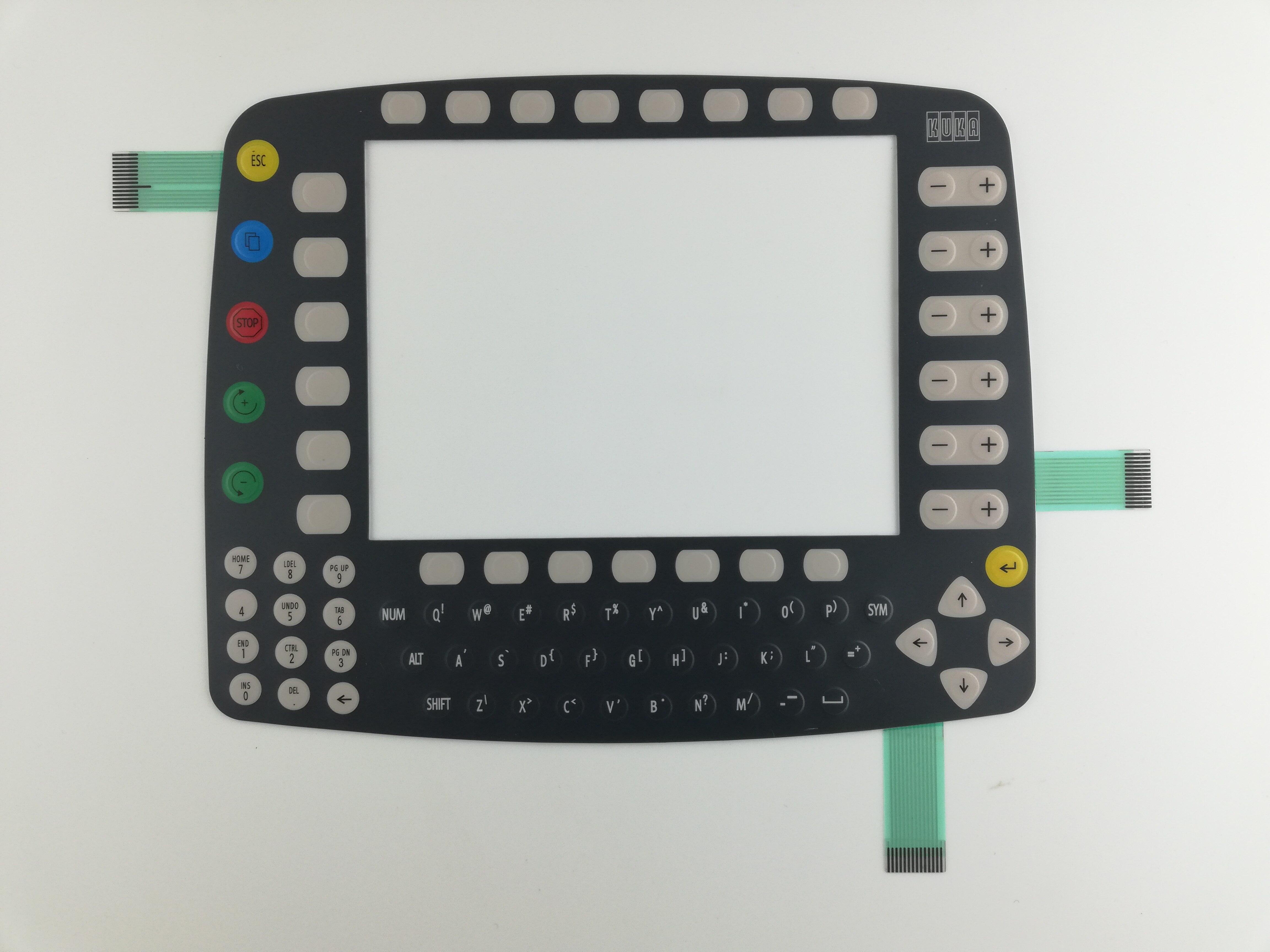 KUKA KRC2 KCP2 robot KCP2 00 110 185 teaching key Membrane Keypad NEW DE4D F4