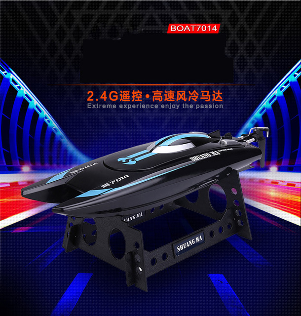 ФОТО Amazing RC Boat 7014 2.4G High Speed 25km/h RC Boat Toys Speedboats Model Electric Remote Control Gift for Children