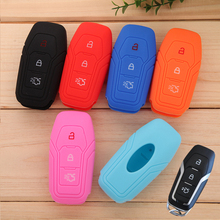 Intelligent D Car Styling Silicone Key Cover For  Ford Kuga EcoSport New Focus 2 3 Mondeo Fiesta Edge Car Key Case