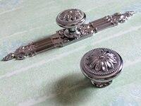 Silver Dresser Knob Drawer Knobs Pulls Handles Kitchen Cabinet Knobs Handle Ornate Hardware Furniture Door Handles
