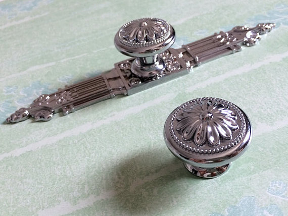 Silver Dresser Knob Drawer Knobs Pulls Handles Kitchen Cabinet Knobs ...