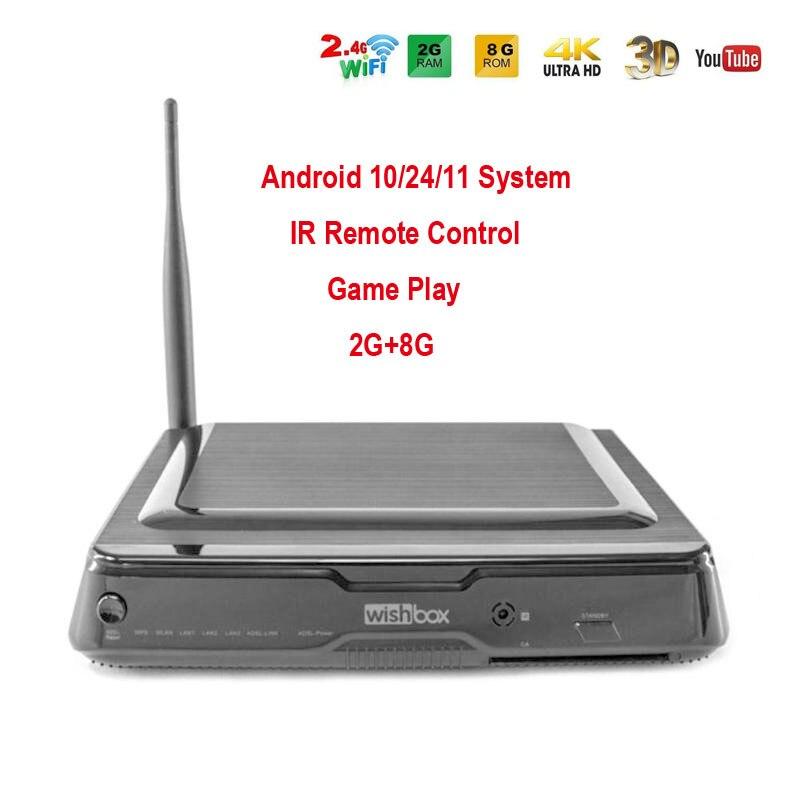 DVB-S2 Android TV Box 10/24/11 système 2G + 8G décodeur WIFI décodeur Amlogic S812 Quad Core avec lecteur multimédia télécommandé IR