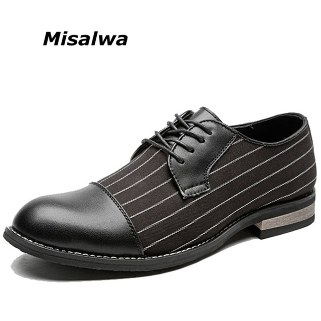 Misalwa New Unique Men Stripes Oxfords Men Loafers Men Casual Daily Shoes  Wedding Party Dating Dress Shoes Men s Flats 267c3dad7790