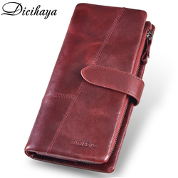DICIHAYA, Бесплатная гравировка, с именем, натуральная кожа, Женский кошелек, на застежке, клатч, кошельки, для монет, карман, держатели карт, Длин...