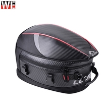 CUCYMA 55L Motorcycle Tail Bags Carbon Fiber PU Waterproof Motocross Motorbike Travel Shoulder Bag MOTO Rear Seat Pack