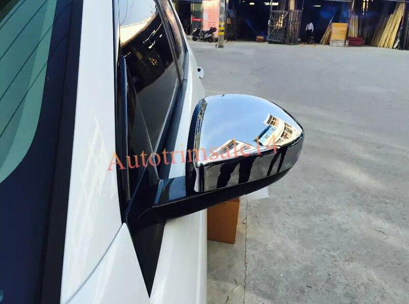 2PCS Bright Chrome ABS Side Mirror Cover Trim For Land Rover Range Rover Evoque 2014-2016 2pcs abs exterior side mirror cover trim for land rover range rover evoque 2014 2016